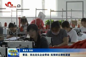 曹县:突出龙头企业带动 拓宽群众增收渠道