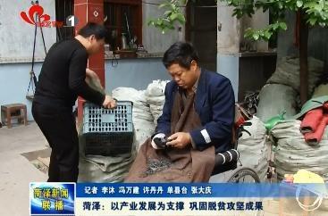 菏泽:以产业发展为支撑 巩固脱贫攻坚成果