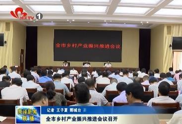 全市乡村产业振兴推进会议召开