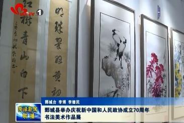 鄄城县举办庆祝新中国和人民政协成立70周年书法美术作品展