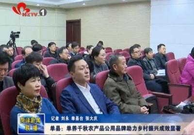 单县:单养千秋农产品公用品牌助力乡村振兴成效显著