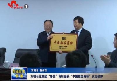 """东明石化集团""""鲁昌""""商标荣获""""中国驰名商标""""认定保护"""