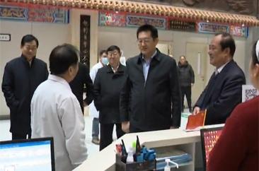 市委书记张新文看望慰问春节期间坚守岗位干部职工