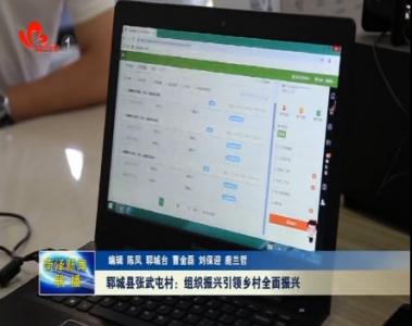 郓城县张武屯村:组织振兴实现乡村全面振兴