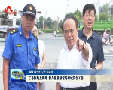 丁志刚到上海路 牡丹区黄镇督导双城同创工作