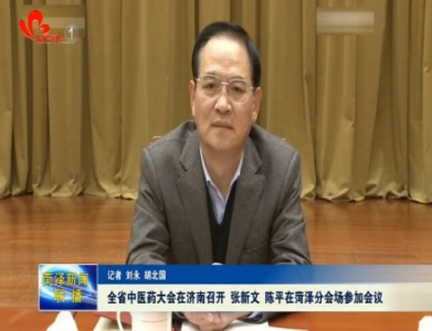 全省中医药大会在济南召开 张新文 陈平在菏泽分会场参加会议