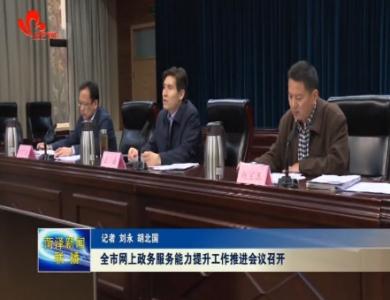 菏泽市网上政务服务能力提升工作推进会议召开