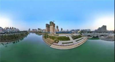 """环堤公园""""十景五湖""""打造菏泽城市新名片——公园景色靓 城市生态美"""